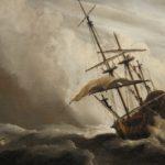 De Windstoot geschilderd door Wilem van de Velde II (1633-1707)