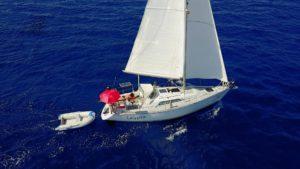 Calypso op weg naar Menorca