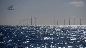 Rampion windpark voor de kust van Brighton